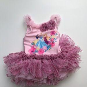 Disney Princess tutu leotard 4y